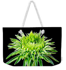Weekender Tote Bag featuring the photograph Extreme Green  by Jim Hughes