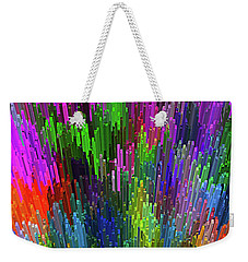Weekender Tote Bag featuring the digital art Extruded City Of Color By Kaye Menner by Kaye Menner