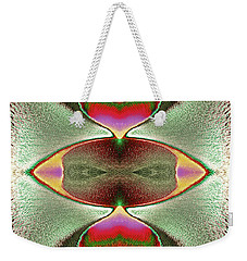 Weekender Tote Bag featuring the photograph Eye C U  by Tony Beck