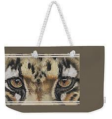 Clouded Leopard Gaze Weekender Tote Bag