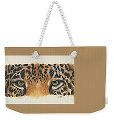 Weekender Tote Bag featuring the painting Eye-catching Jaguar by Barbara Keith