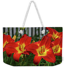 Weekender Tote Bag featuring the photograph Eye Catching by Sandy Keeton