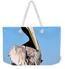 Weekender Tote Bag featuring the photograph Eye Contact by AJ Schibig