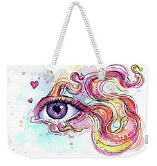 Eye Fish Surreal Betta Weekender Tote Bag by Olga Shvartsur