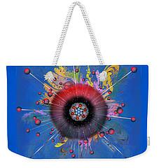 Weekender Tote Bag featuring the digital art Eye Know Dark by Iowan Stone-Flowers