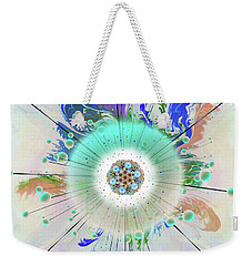 Weekender Tote Bag featuring the digital art Eye Know Light Two by Iowan Stone-Flowers