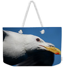 Weekender Tote Bag featuring the photograph Eye Of A Seagull by Sumoflam Photography