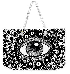 Eye Of March Weekender Tote Bag by Nada Meeks