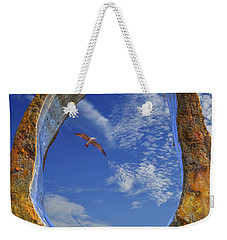 Weekender Tote Bag featuring the photograph Eye Of Odin by Paul Wear