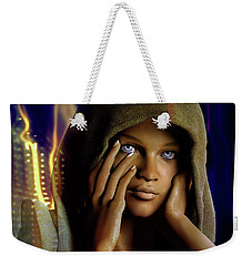 Weekender Tote Bag featuring the digital art Eye Of The Soul by Shadowlea Is