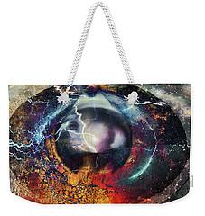 Weekender Tote Bag featuring the digital art Eye Of The Storm by Linda Sannuti