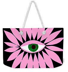 Eye On You - Black Weekender Tote Bag