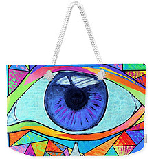 Eye With Silver Tear Weekender Tote Bag