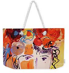 Eyes And Flowers Weekender Tote Bag