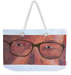 Weekender Tote Bag featuring the painting Eyes by Donald J Ryker III