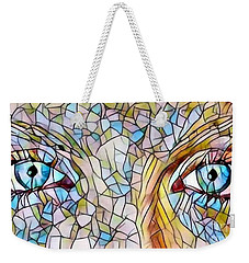Eyes Of A Goddess - Stained Glass Weekender Tote Bag