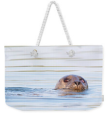 Weekender Tote Bag featuring the photograph Eyes Of Doubt by Debbie Stahre