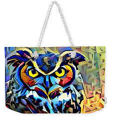 Weekender Tote Bag featuring the photograph Eyes Of Wisdom by Geri Glavis