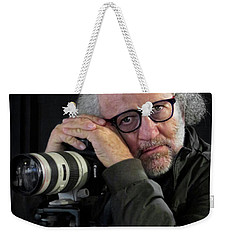 Weekender Tote Bag featuring the photograph Eyes To The Soul by Jennie Breeze