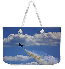 Weekender Tote Bag featuring the photograph F-18 by Raymond Salani III