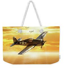 F-6f Hellcat Pacific Sunrise Weekender Tote Bag