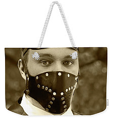 Weekender Tote Bag featuring the photograph F-f-f-faba Beans - Steampunk by Betty Denise