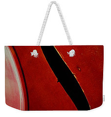 Weekender Tote Bag featuring the photograph F Hole by Chris Berry