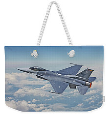 Weekender Tote Bag featuring the digital art F16 - Fighting Falcon by Pat Speirs
