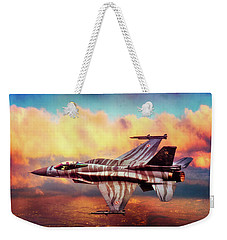 Weekender Tote Bag featuring the photograph F16c Fighting Falcon by Chris Lord