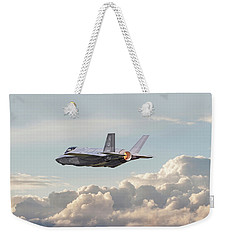Weekender Tote Bag featuring the photograph F35 -  Into The Future by Pat Speirs