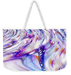 Weekender Tote Bag featuring the painting Fabric Of Reality by Robert G Kernodle