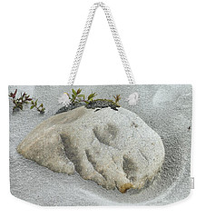 Face In The Sand At Baird Glacier Outwash Weekender Tote Bag