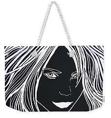 Face  Weekender Tote Bag by Kruti Shah