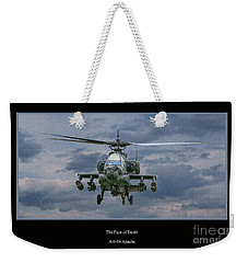 Face Of Death Ah-64 Apache Helicopter Weekender Tote Bag by Randy Steele