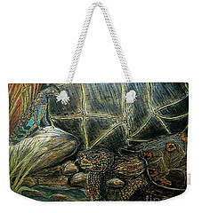Face Off At The Waterhole Weekender Tote Bag