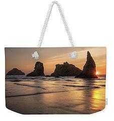 Face Rock Sunset Weekender Tote Bag