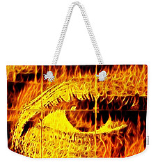 Face The Fire Weekender Tote Bag by Gina Callaghan
