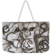 Faces And Places Weekender Tote Bag