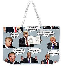 Chapter 13 Faces Weekender Tote Bag by Joe  Palermo