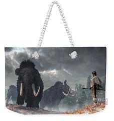 Facing The Mammoths Weekender Tote Bag by Daniel Eskridge