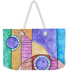 Weekender Tote Bag featuring the painting Fade Out by Edwin Alverio