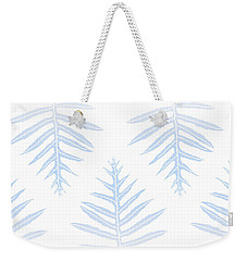 Faded Indigo Fern Array Weekender Tote Bag