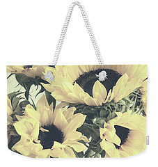 Faded Sunflowers Weekender Tote Bag