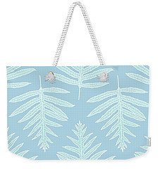 Faded Teal Fern Array Weekender Tote Bag