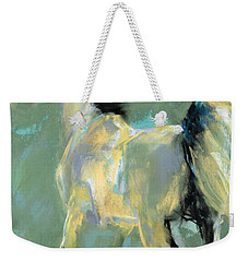 Weekender Tote Bag featuring the pastel Fading Out To Three by Frances Marino