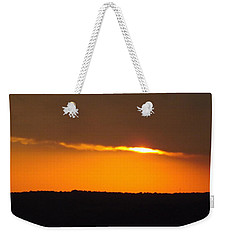 Weekender Tote Bag featuring the photograph Fading Sunset  by Don Koester