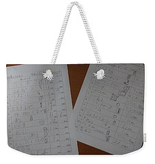 Faint Memory Table Weekender Tote Bag
