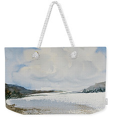 Weekender Tote Bag featuring the painting Fair Weather Or Foul? by Dorothy Darden