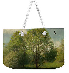 Weekender Tote Bag featuring the painting Fairchild Hill by Wayne Daniels