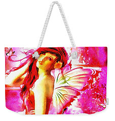 Fairy Angel In The Mix In Thick Paint Weekender Tote Bag